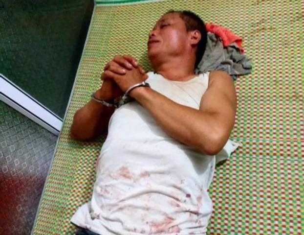 Nguyễn Văn Tiến bị bắt giữ. Ảnh: A. Quỳnh