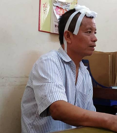 Nguyễn Văn Tiến sau khi bị bắt giữ. Ảnh công an cung cấp