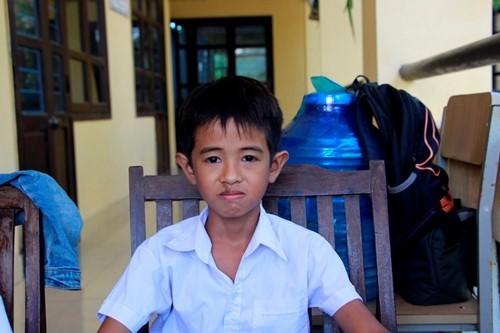 Em Lê Văn Vũ, học sinh có hành động dũng cảm.