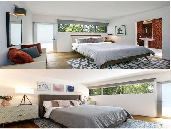 Căn biệt thự được thiết kế với tông màu đơn giản, xám và trắng tạo cảm giác ấm áp. Nội thất và trang trí cũng vô cùng tinh tế và sang trọng.