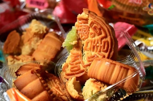 Bánh Trung thu có xuất xứ từ Trung Quốc. Ảnh: Sơn Dương