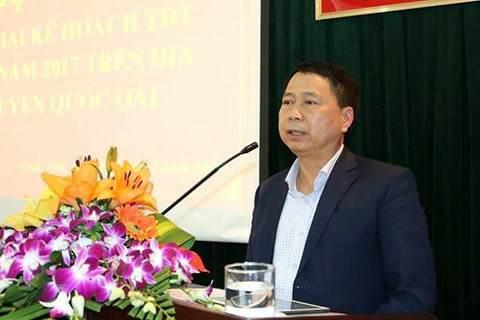 Ông Nguyễn Hồng Lâm, Chủ tịch UBND huyện Quốc Oai