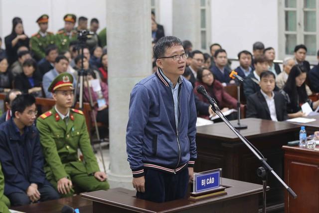 Ông Trịnh Xuân Thanh tại phiên tòa ngày 8/1