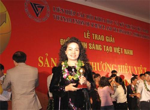Nữ doanh nhân vàng Lê Thị Hương.