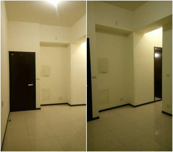 Trước khi được cải tạo, căn hộ chung cư 45m2 này không có gì đặc biệt.