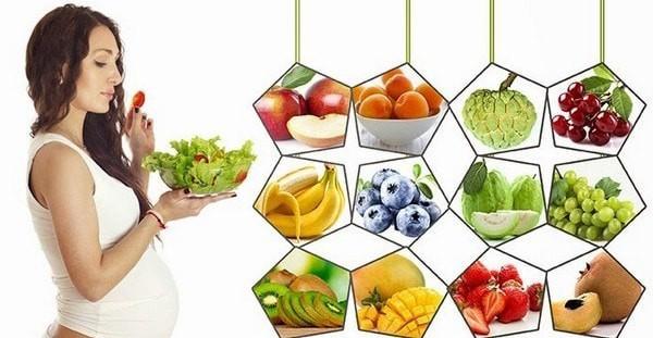 Chế độ ăn trong thời kỳ mang bầu là rất quan trọng.