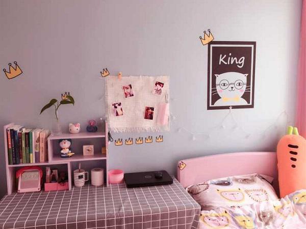 Căn phòng tí hon chỉ 7m2 của cô gái trẻ sau khi được cải tạo vô cùng xinh xắn và ngọt ngào.