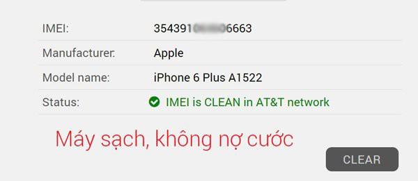 Hướng dẫn unlock iPhone AT&T: Bạn có thể truy cập vào đường dẫn công cụ kiểm tra IMEI AT&T online ở đây sau đó nhập thông tin IMEI máy của bạn để kiểm tra. Ở phần kết quả check được nếu dòng Status ghi IMEI is CLEAN hay CLEAN thì máy có thể được unlock miễn phí.