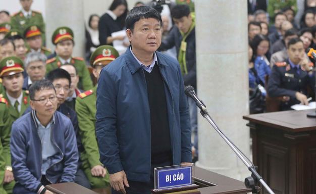 Ông Đinh La Thăng tại phiên tòa - Ảnh: Tư liệu TTO