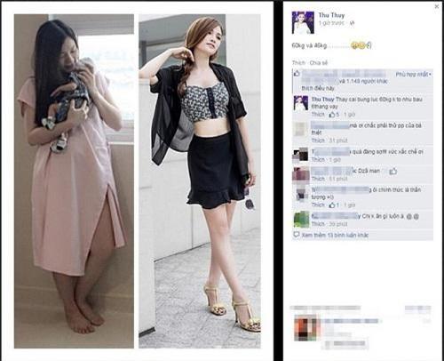 Sau khi giảm cân thành công, Thu Thủy khoe thành quả trên mạng xã hội