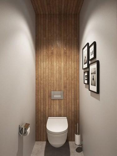 Sử dụng vật liệu tự nhiên: Sẽ có nhiều người lo ngại việc sử dụng gỗ trong nhà vệ sinh sẽ khiến chúng bị ẩm, dễ hỏng. Thế nhưng, khi áp dụng những biện pháp chống ẩm đối với vật liệu này sẽ giúp thiết kế trở nên ấm áp hơn.