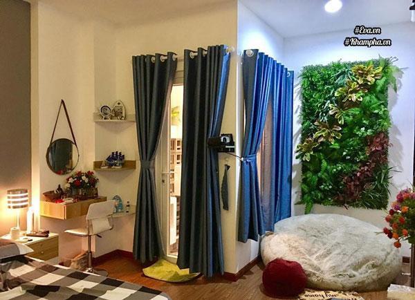 Có thêm thảm lá xanh, không gian nhà chị Trân càng thêm rực rỡ và tràn đầy sức sống.