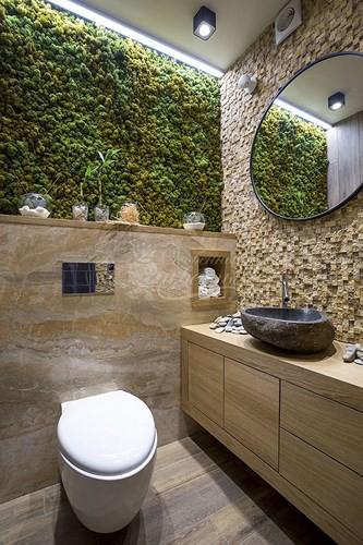 Kết hợp những vật liệu khác nhau: Những vật liệu khác nhau như gỗ, đá... khi kết hợp có thể mang lại sự độc đáo cho không gian.