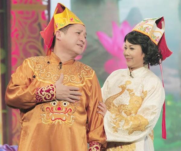 Bà Táo Minh Hằng cùng Chí Trung trong chương trình Táo quân.