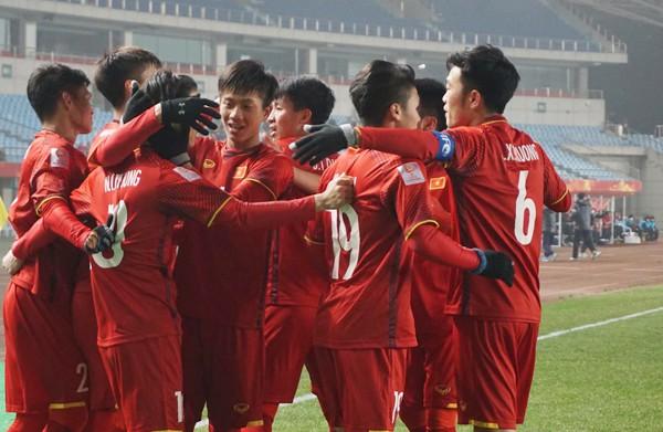 Tinh thần thi đấu đoàn kết, thi đấu quả cảm của tuyển U23 Việt Nam.