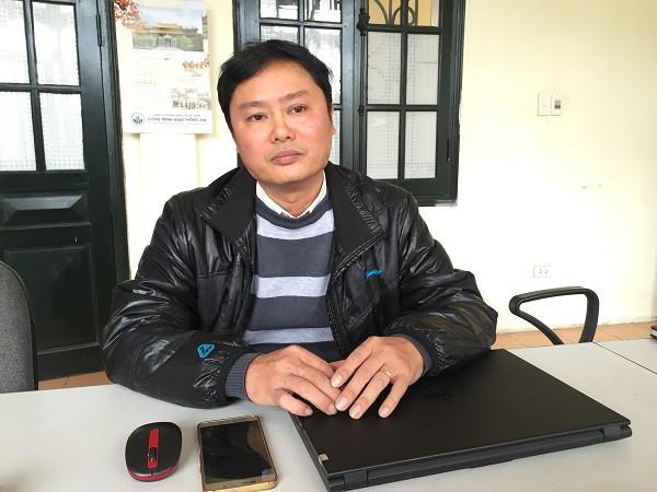 Ông Đặng Đình Quang - Chi cục trưởng Chi cục Quản lý đường bộ I.5 (Cục quản lý đường bộ I).