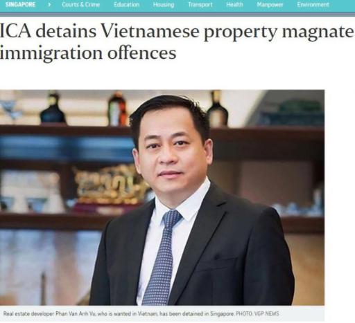 Báo chí Singapore đưa tin về Vũ Nhôm