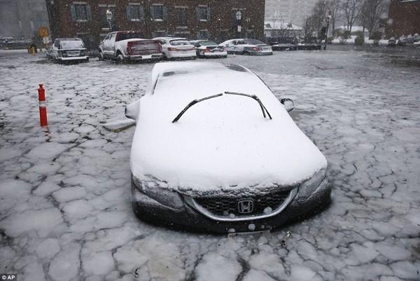 Tại Mỹ, những chiếc xe ô tô không thể đi lại, thậm chí đóng băng ở sân đỗ chỉ vì nhiệt độ thấp kỷ lục.