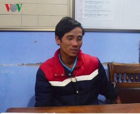Đối tượng Nguyễn Văn Việt bị bắt giữ ngay sau khi gây ra vụ án. Ảnh: VOV