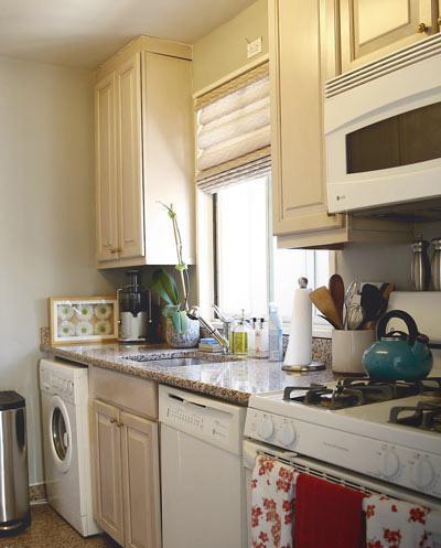 Phòng bếp đầy đủ tiện nghi và thiết kế nhỏ gọn. Ảnh: Internet