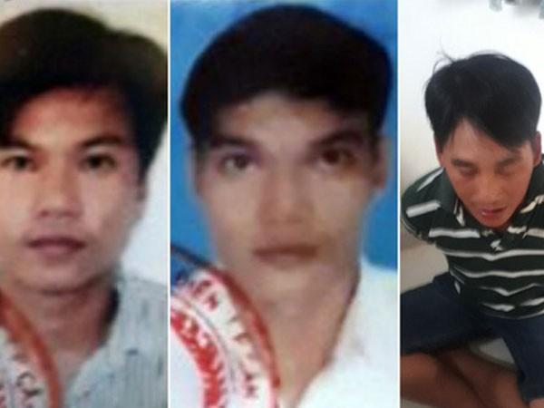 3 đối tượng (từ trái qua): Nguyễn Bảo Xuyên, Nguyễn Văn Năng và Nguyễn Ngọc Tâm
