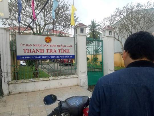 Trụ sở Thanh tra tỉnh Quảng Nam, nơi ông Nghị làm việc