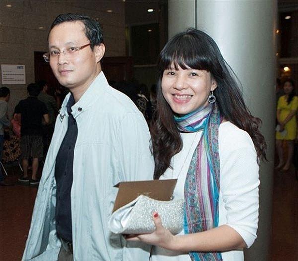 Hình ảnh hiếm hoi của Diễm Quỳnh và ông xã là kiến trúc sư lớn hơn cô 4 tuổi.