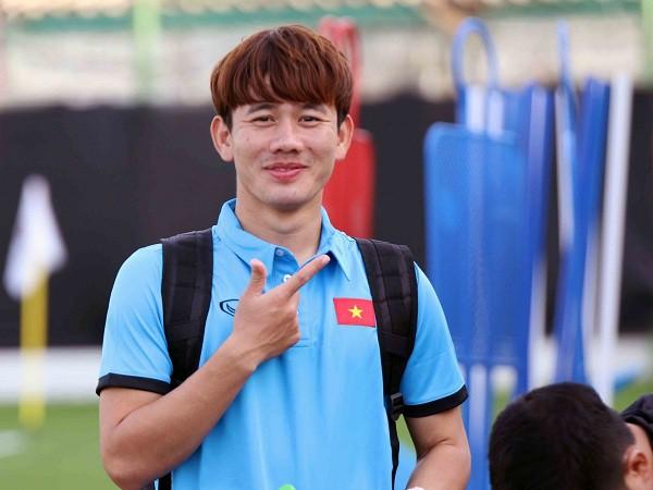 Tiền vệ Trần Minh Vương đầy tự tin để chuẩn bị cho trận gặp Iran (Ảnh: VFF)