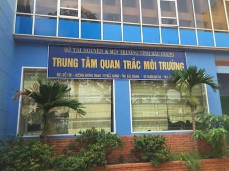 Trung tâm quan trắc TNMT - nơi ông Vũ Văn Hữu vừa được luân chuyển đến và bổ nhiệm vị trí lãnh đạo phụ trách trung tâm
