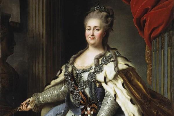Tranh vẽ Catherine Đại đế