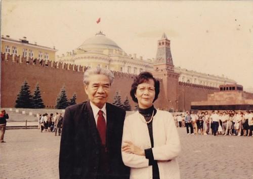 GS Tạ Quang Bửu và bà Hoàng Thị Oanh - con gái Nhà văn hóa Hoàng Đạo Thúy. Ảnh: Gia đình cung cấp