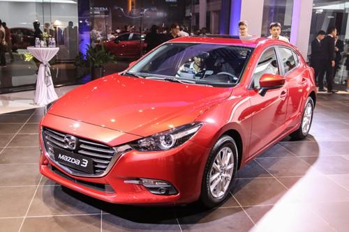 Mazda3 bản nâng cấp ra mắt hồi giữa 2017 tại Việt Nam. Ảnh: Đức Huy.