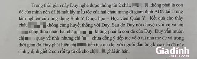 ADN của 2 bé tử vong vì bố ép uống thuốc sâu ở Hà Nội không trùng với nhau - Ảnh 4.