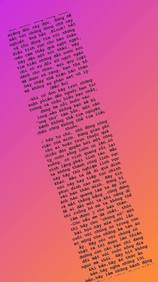 Hồ Ngọc Hà nhắn nhủ đến một người lạ: Hãy mỉm cười nói rằng thật ra tôi được lên thiên đường còn các người chỉ đang đối mặt với cuộc sống địa ngục mà thôi... - Ảnh 1.