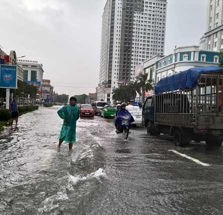 Chùm ảnh trận lụt lịch sử tại TP Vinh - Ảnh 6.
