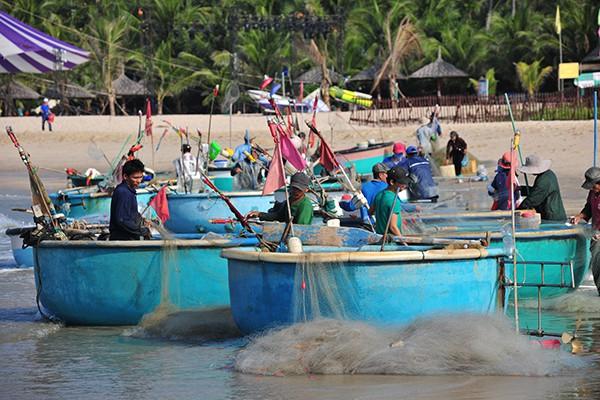 Khám phá làng chài chỉ dùng thuyền thúng để ra khơi - Ảnh 1.