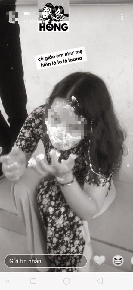 Học sinh trét bánh kem đầy mặt giáo viên còn khoe hành cô dễ sợ gây bức xúc - Ảnh 3.