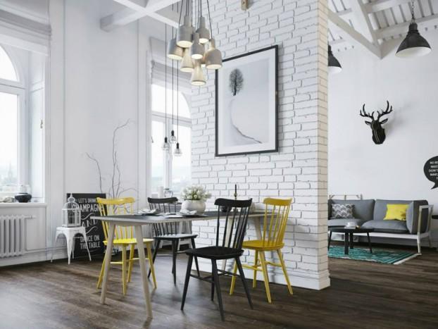 Căn hộ 25m² chuẩn phong cách Scandinavia sử dụng màu vàng táo bạo - Ảnh 4.
