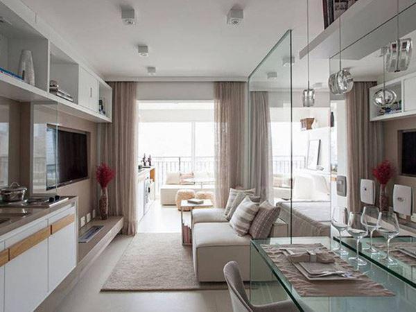 Tuyệt chiêu giúp căn hộ 35 m2 sang trọng như rộng gấp đôi - Ảnh 1.