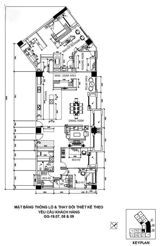 Chủ nhà gộp ba căn hộ để có phòng khách hơn 100 m2  - Ảnh 10.
