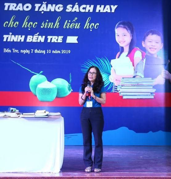 Bà Hoàng Thị Thu Hiền - Trưởng ban Dự án sách hay dành cho học sinh tiểu học.