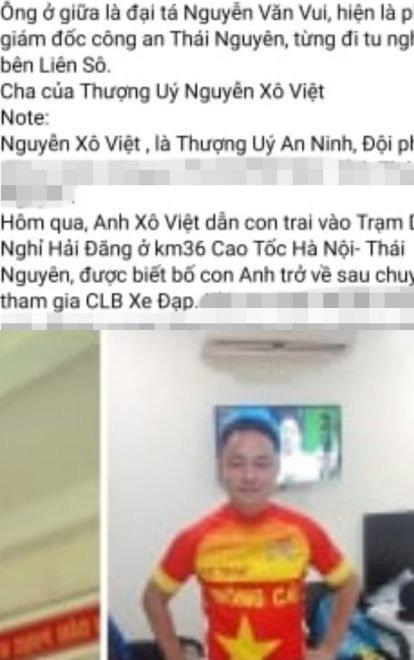 Sự thật thông tin Thượng úy tát nhân viên trạm dừng nghỉ là con lãnh đạo công an tỉnh Thái Nguyên - Ảnh 2.
