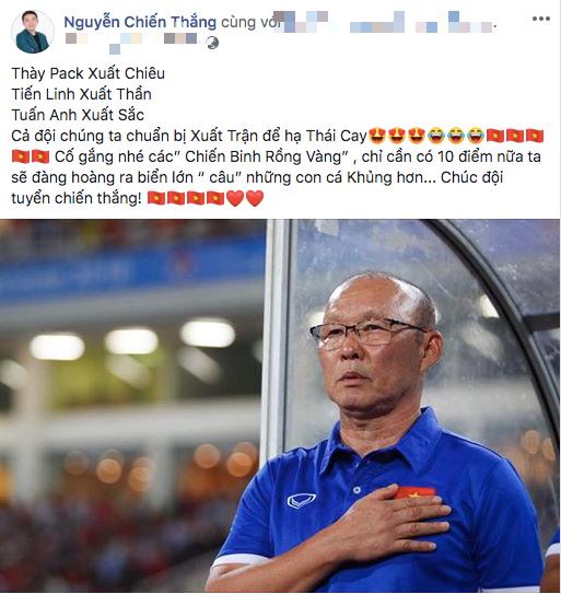 Danh hài Chiến Thắng tự tin dự đoán Việt Nam - Thái Lan 2-1 - Ảnh 1.