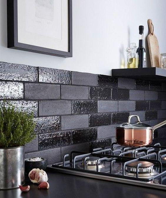 Những ý tưởng trang trí nhà bếp màu đen siêu ấn tượng - Ảnh 14.