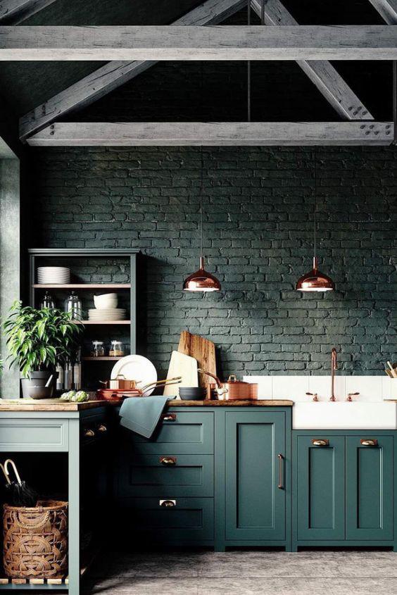 Những ý tưởng trang trí nhà bếp màu đen siêu ấn tượng - Ảnh 15.
