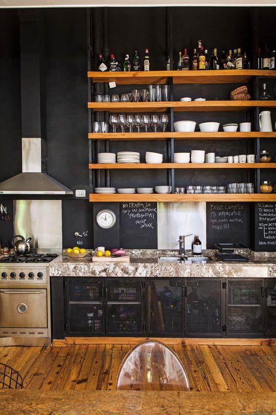 Những ý tưởng trang trí nhà bếp màu đen siêu ấn tượng - Ảnh 16.