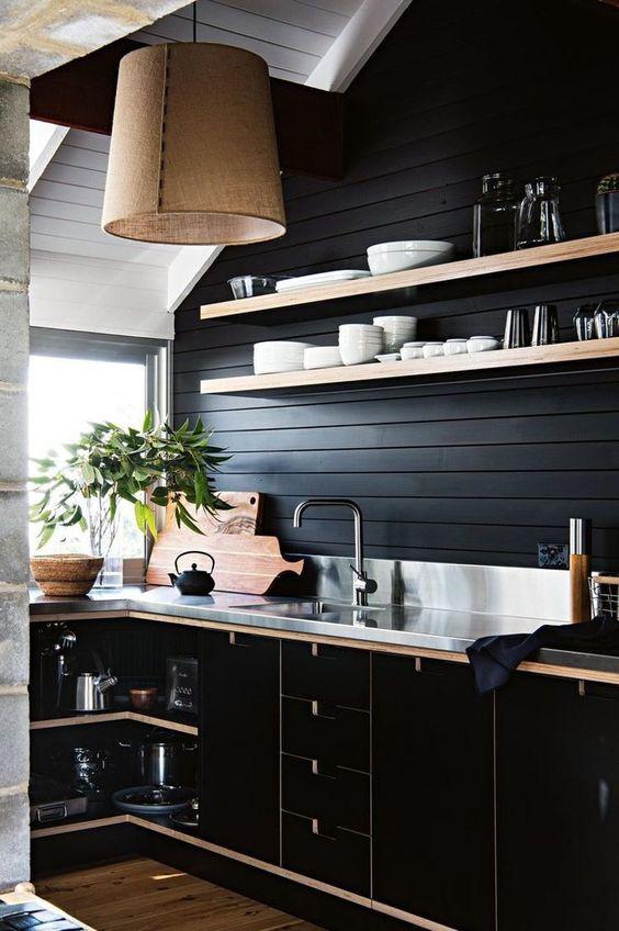 Những ý tưởng trang trí nhà bếp màu đen siêu ấn tượng - Ảnh 18.