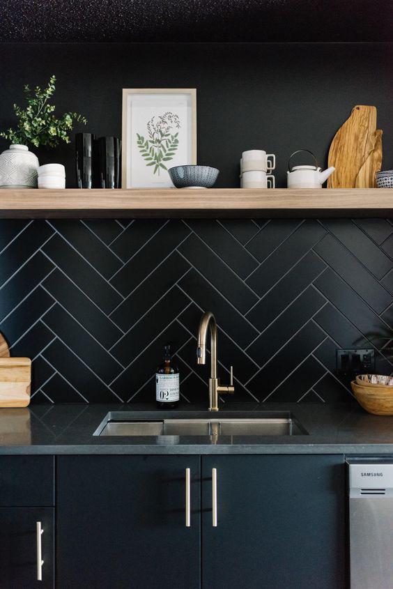 Những ý tưởng trang trí nhà bếp màu đen siêu ấn tượng - Ảnh 11.