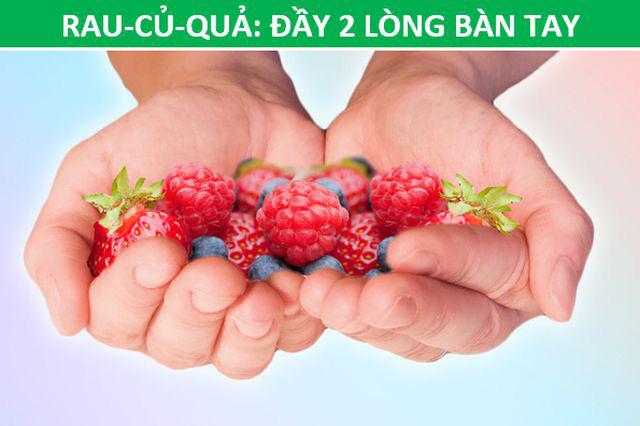 Mẹo hay: Xác định lượng thức ăn phù hợp với cơ thể chỉ bằng…bàn tay - Ảnh 5.