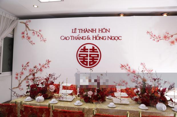 Biệt thự nhà Ông Cao Thắng đỏ rực và lộng lẫy theo phong cách người Hoa trong ngày ăn hỏi - Ảnh 6.